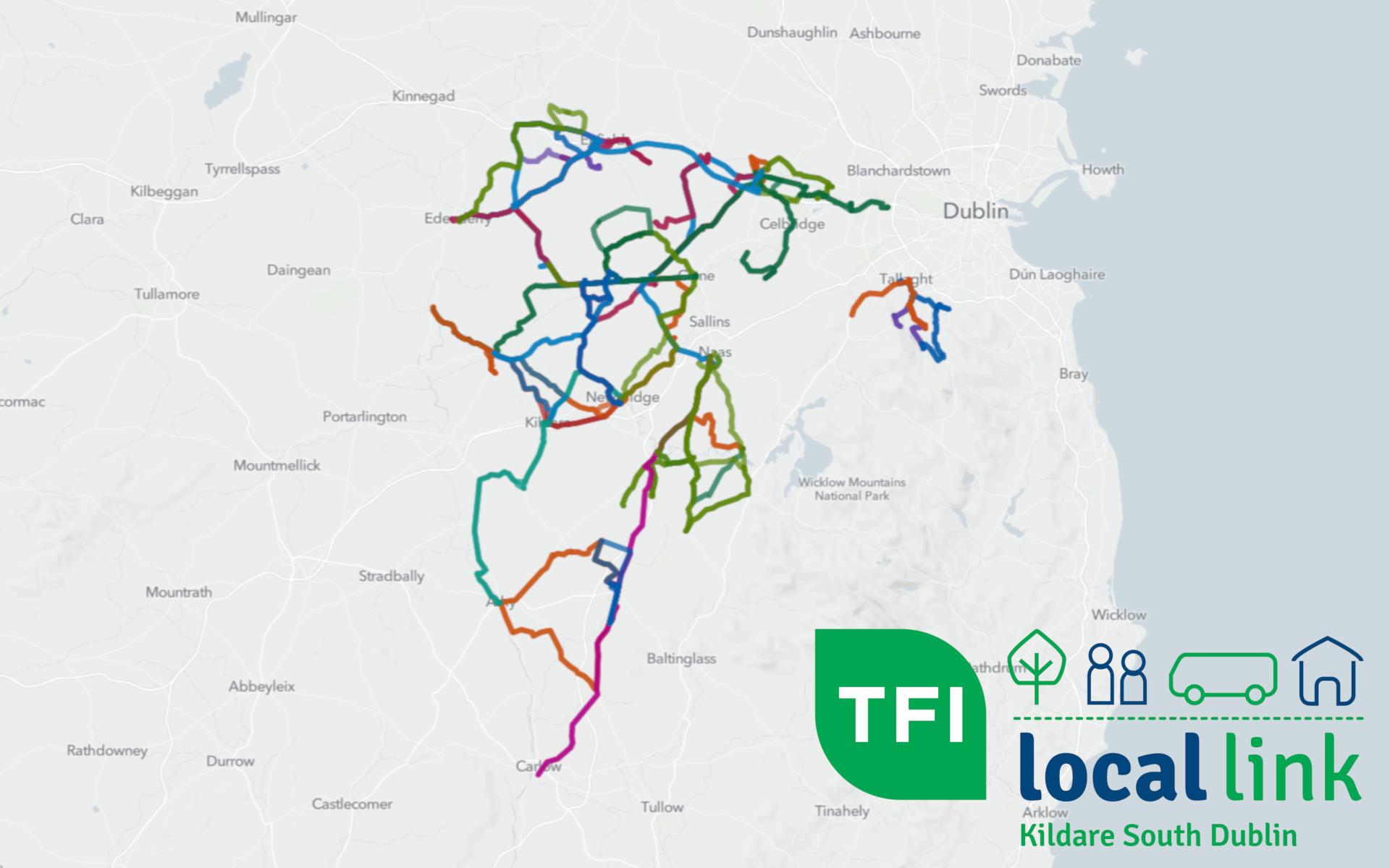 Route Map TFI Local link Kildare South Dublin